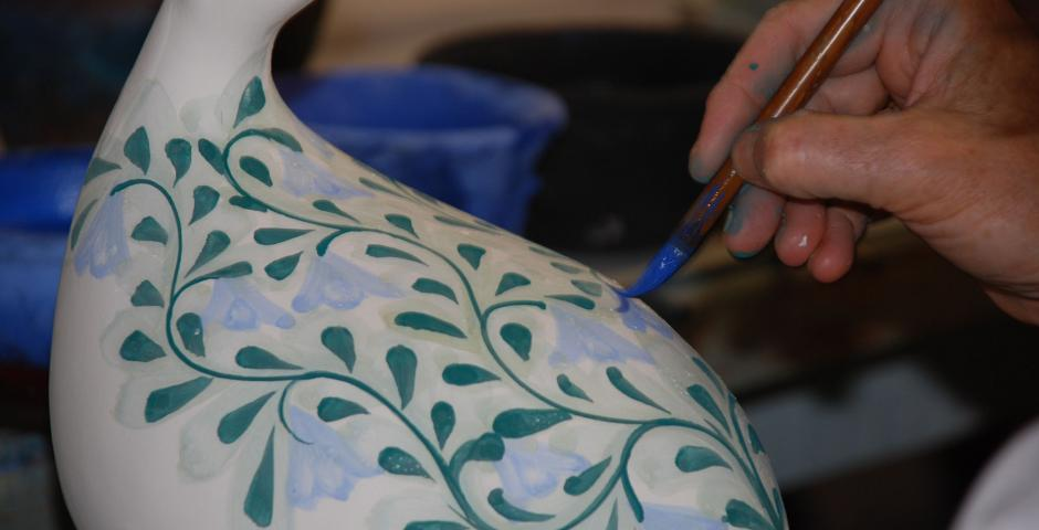 Learn how to mould the traditional tile in clay and paint a personalised design
