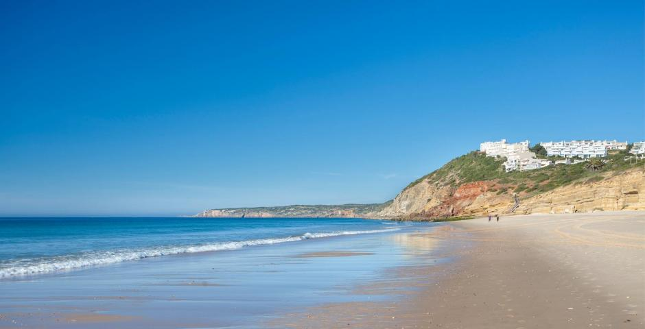 Salema beach, 15th place on the 'The Guardian' list of 2015's most beautiful beaches.